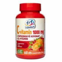 1X1 Vitaday C-Vitamin 1000mg+D3+csipkebogyó rágótabletta 60 db
