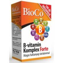 Bioco B-vitamin komplex forte tabletta 100db