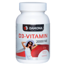 Damona D3-vitamin 2000NE tabletta 100db