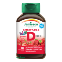 Jamieson D3-vitamin Kids eper ízű rágótabletta gyerekeknek 100 db