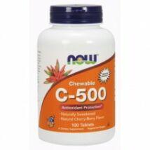 Now C-500 cseresznye ízű rágótabletta 100 db