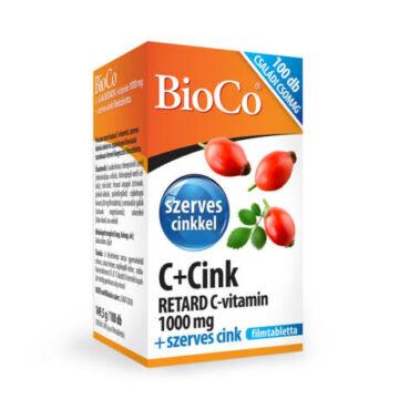 BioCo retard C-vitamin 1000mg + szerves cink 100db