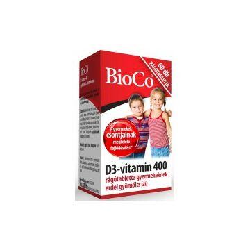 BioCo D3-vitamin 400 IU rágótabletta gyermekeknek 60db