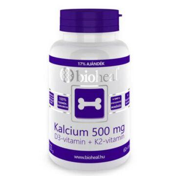 Bioheal Kalcium + D3-vitamin + K2-vitamin tabletta 70 db