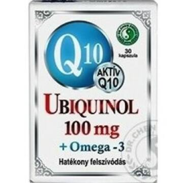 DR. CHEN Q10 UBIQUINOL 100MG+OMEGA3 LÁGYZSELATIN KAPSZULA 30DB