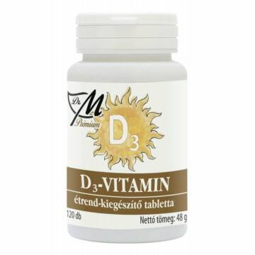 Dr.M Prémium D3-vitamin tabletta 120db