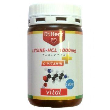 Dr. Herz Lysine HCL+C-vitamin tabletta 120db