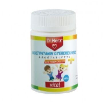 Dr. Herz multivitamin gyerekeknek+lactobacillus tabletta 60db