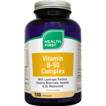 HEALTH FIRST B-50 VITAMIN KOMPLEX 100 DB