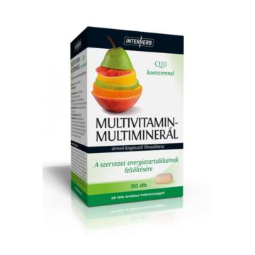 Interherb vital multivitamin-multimineral tabletta 30db
