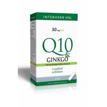 Interherb Q10+ginkgo extraktum kapszula 30db