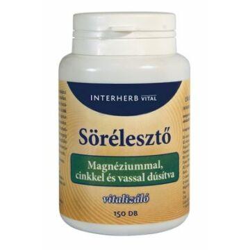 Interherb sörélesztő tabletta magnéziummal 150db