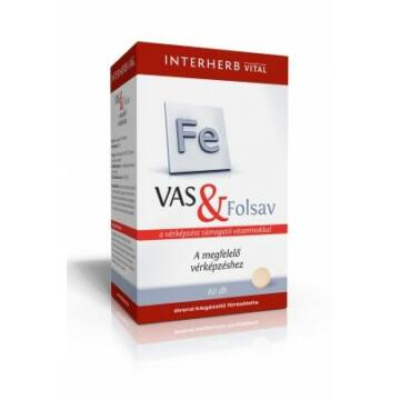 Interherb vas+folsav tabletta 60db