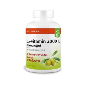 Interherb XXL D3-vitamin 2000IU olivaolajjal kapszula 90db