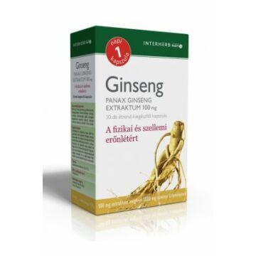 Interherb napi 1 ginseng extraktum kapszula 30db