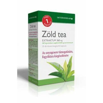 Interherb napi 1 zöld tea extraktum kapszula 30db