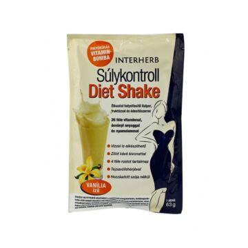 Interherb Súlykontroll Diet Shake vanilia ízű 63g