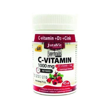 Jutavit C-vitamin+d3+cink 1000 mg tabletta 45 db