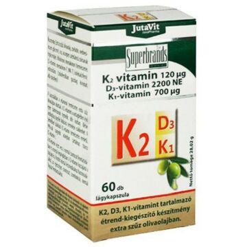 Jutavit K2+D3+K1-vitamin tabletta 60db