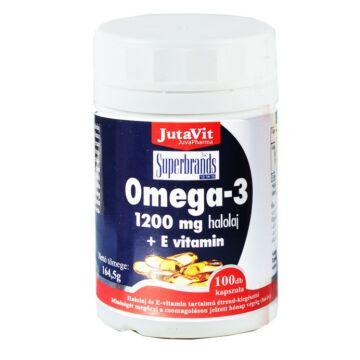 Jutavit omega-3+E vitamin kapszula 100db