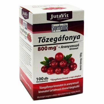 JUTAVIT TŐZEGÁFONYA+ARANYVESSZŐ TABLETTA 100 DB