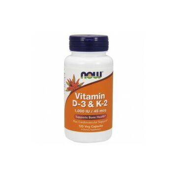 Now D3 és K2 vitamin 120 db