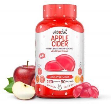 Vitaful Apple Cider almaecet gumivitamin 120 db
