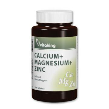 Vitaking Calcium+Magnesium+Zink tabletta 100 db