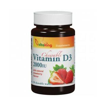 Vitaking d3-vitamin epres rágótabletta 90db